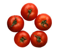 Pomodori, isolati Immagine Stock Libera da Diritti