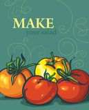 Pomodori LUMINOSI. verdure saporite Fotografia Stock