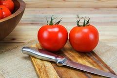 Pomodori maturi freschi del primo piano Immagine Stock Libera da Diritti