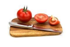 Pomodori maturi freschi del primo piano Fotografie Stock