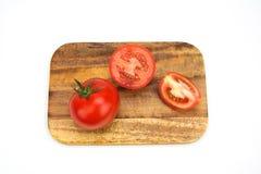 Pomodori maturi freschi del primo piano isolati Fotografia Stock Libera da Diritti