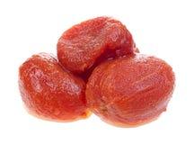 Pomodori maturi sbucciati Immagini Stock