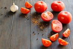 Pomodori maturi sugosi Fotografie Stock