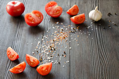 Pomodori maturi sugosi Fotografia Stock
