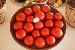 Pomodori nel Mediterraneo Immagini Stock