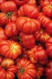 Pomodori organici di Heirloom fotografia stock