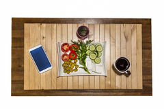 Pomodori organici freschi fotografia stock libera da diritti
