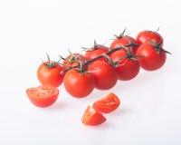pomodori organici su bianco Immagini Stock