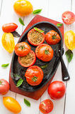 Pomodori-ripieni Lizenzfreies Stockfoto