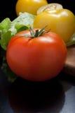 Pomodori rossi e gialli Immagini Stock Libere da Diritti