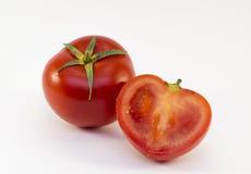 Pomodori rossi freschi isolati su bianco Fotografie Stock Libere da Diritti
