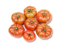 Pomodori rossi impilati Fotografia Stock Libera da Diritti