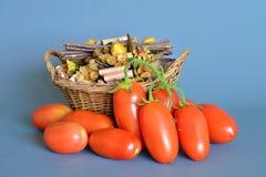 Pomodori San Marzano, campania, Italia Fotografia Stock