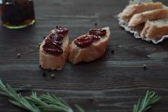 Pomodori seccati al sole italiani Immagine Stock