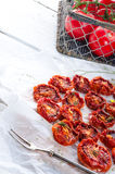 Pomodori secchi Fotografie Stock Libere da Diritti