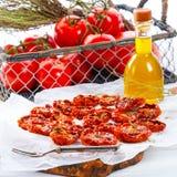 Pomodori secchi Fotografia Stock Libera da Diritti