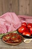 Pomodori secchi Fotografia Stock
