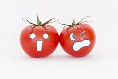 Pomodori spaventosi del fronte Immagini Stock Libere da Diritti