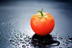 Pomodori su fondo nero Fotografia Stock Libera da Diritti