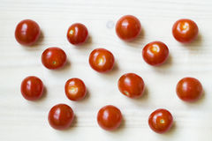 Pomodori su un fondo leggero Fotografia Stock