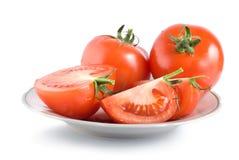 Pomodori su una zolla Fotografia Stock Libera da Diritti
