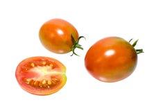 Pomodori succosi isolati su fondo bianco Immagine Stock Libera da Diritti