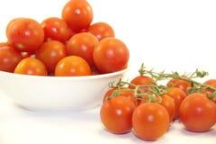 Pomodori sul piatto Immagine Stock Libera da Diritti