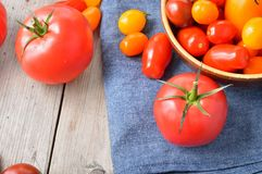 Pomodori variopinti Fotografie Stock