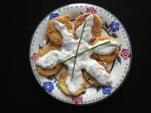 Pomodori verdi fritti Immagini Stock Libere da Diritti