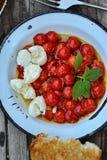 Pomodoro arrostito Caprese Fotografie Stock