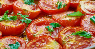 Pomodoro arrosto. Sun dried tomatoes with olive oil Royalty Free Stock Image