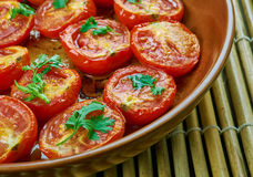 Pomodoro arrosto. Sun dried tomatoes with olive oil Royalty Free Stock Photography
