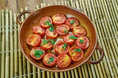 Pomodoro arrosto. Sun dried tomatoes with olive oil Royalty Free Stock Photos