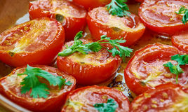 Pomodoro arrosto. Sun dried tomatoes with olive oil Stock Photos