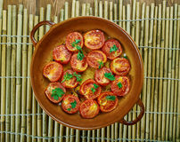 Pomodoro arrosto. Sun dried tomatoes with olive oil Royalty Free Stock Photo