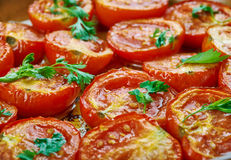 Pomodoro arrosto. Sun dried tomatoes with olive oil Stock Images