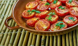 Pomodoro arrosto. Sun dried tomatoes with olive oil Royalty Free Stock Images