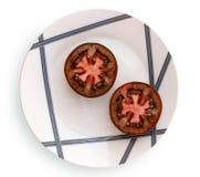 Pomodoro bruno-rossastro fotografie stock