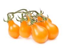 Pomodoro ciliegia giallo fotografie stock