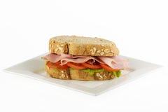 Pomodoro del prosciutto e panino freschi della lattuga Fotografia Stock Libera da Diritti