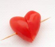 Pomodoro di figura del cuore Immagini Stock