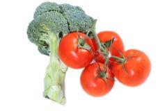 Pomodoro e broccolo Fotografia Stock Libera da Diritti