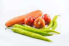 Pomodoro e carota fresca e peperone dolce Immagine Stock Libera da Diritti