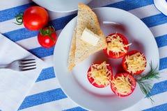 Pomodoro e formaggio fotografie stock