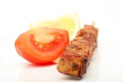 Pomodoro e kebab Fotografia Stock