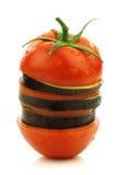 Pomodoro e melanzana affettati e mixed del Surinam Fotografie Stock