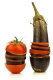 Pomodoro e melanzana affettati e mixed del Surinam Fotografia Stock Libera da Diritti