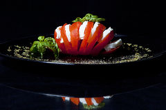Pomodoro e mozzarella Fotografia Stock