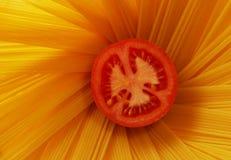 Pomodoro e spaghetti Fotografie Stock Libere da Diritti