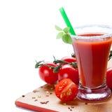 Pomodoro e succo di pomodoro Fotografie Stock